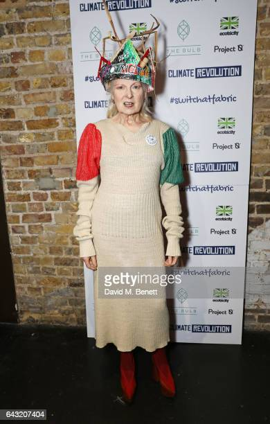 Dame Vivienne Westwood attends Dame Vivienne Westwood and James Jagger's Mad Max party in aid of climate change during London Fashion Week February...
