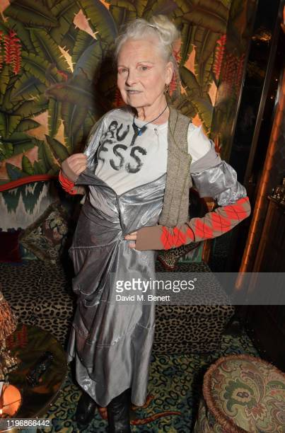 Dame Vivienne Westwood attends the 'Country Town House Great British Brands' party at Annabel's on January 27 2020 in London England