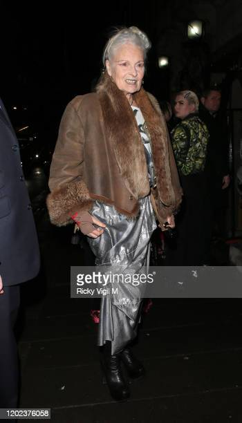 Dame Vivienne Westwood seen attending Country Town House Great British Brands party at Annabel's on January 27 2020 in London England