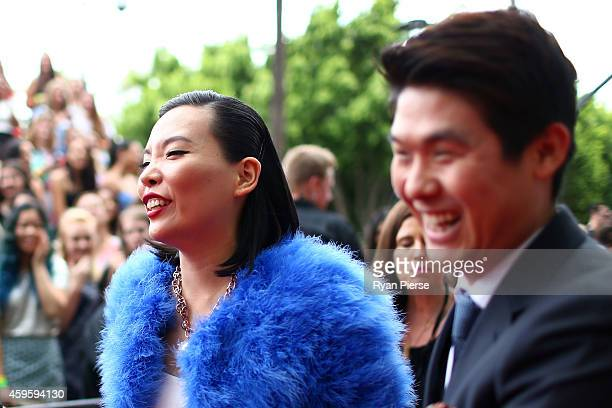 SYDNEY AUSTRALIA NOVEMBER Dami Im and her husband Noah Kim arrive at the 28th Annual ARIA Awards 2014 at the Star on November 26 2014 in Sydney...