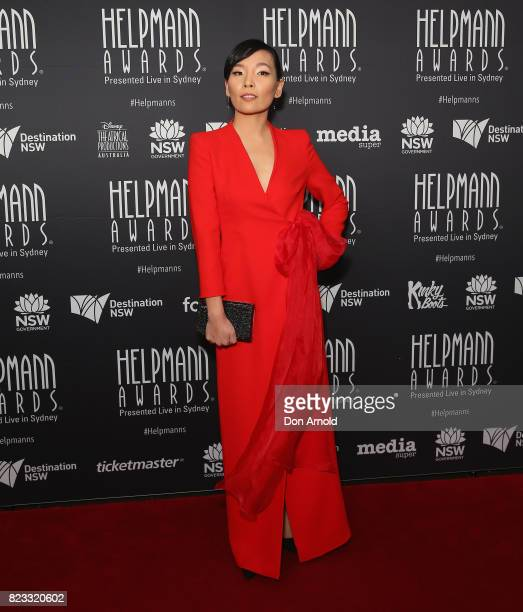 Dami Im arrives ahead of the 17th Annual Helpmann Awards at Lyric Theatre Star City on July 24 2017 in Sydney Australia