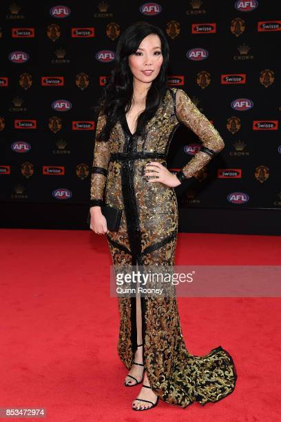 Dami Im arrives ahead of the 2017 Brownlow Medal at Crown Entertainment Complex on September 25 2017 in Melbourne Australia