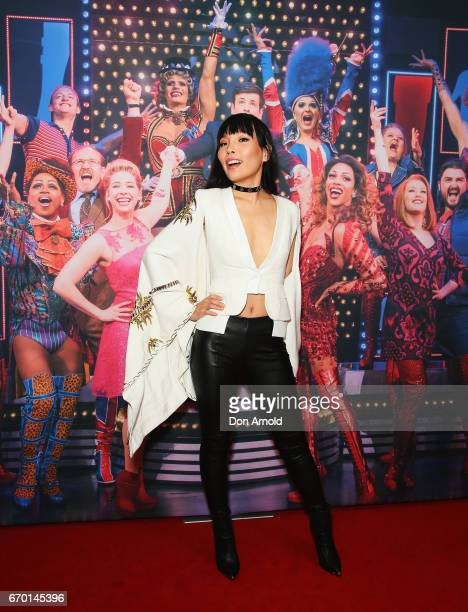 Dami Im arrives for the opening night of Cyndi Lauper's Kinky Boots at Capitol Theatre on April 19 2017 in Sydney Australia