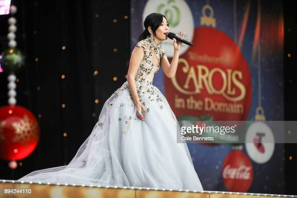 Dami Im performs during Woolworths Carols in the Domain on December 17 2017 in Sydney Australia Woolworths Carols in the Domain is Australia's...