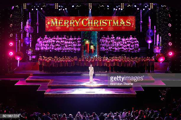 Dami Im performs on stage during Woolworths Carols in the Domain at The Domain on December 19 2015 in Sydney Australia Woolworths Carols in the...