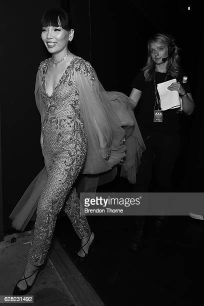 Dami Im walks backstage during the 6th AACTA Awards Presented by Foxtel at The Star on December 7 2016 in Sydney Australia