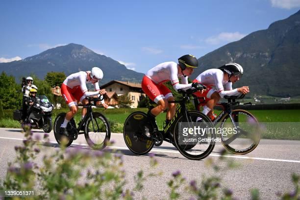 Damian Bieniek, Damian Slawek, Damian Papierski and Team Poland during the 27th UEC Road Cycling European Championships 2021, Mixed Relay a 44,8km...
