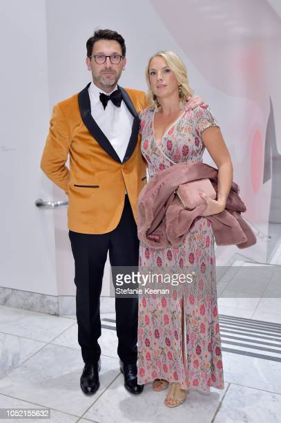 Damian Bradfield and Esther Bradfield attend the Hammer Museum 16th Annual Gala in the Garden with generous support from South Coast Plaza at the...