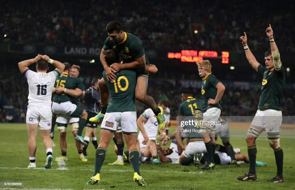 South Africa v England : News Photo