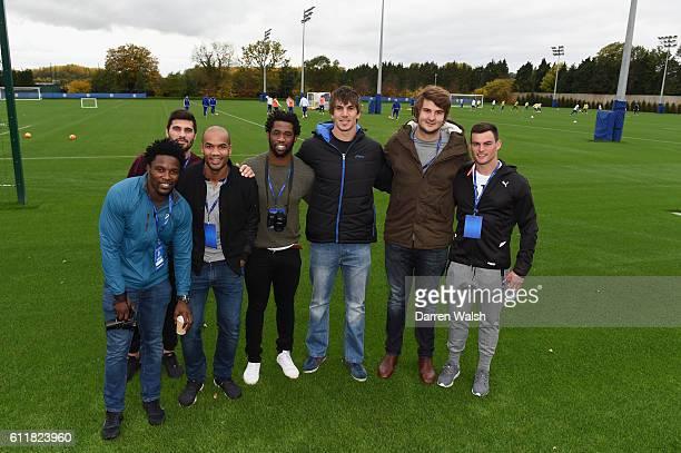 Damian de Allende, Jesse Kriel, JP Pietersen, Siya Kolisi, Lodewijk de Jager, Lwazi Mvovo, Eben Etzebeth from the South African Springboks Rugby...