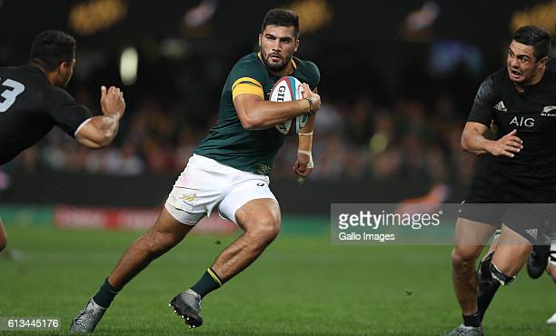 Damian de Allende of South Africa during the The Rugby Championship match between South Africa and New Zealand at Growthpoint Kings Park on October...