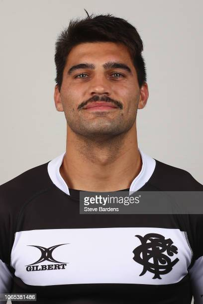 Damian de Allende of the Barbarians poses for a portrait during the Barbarians Squad Photocall at Hilton Park Lane on November 26 2018 in London...