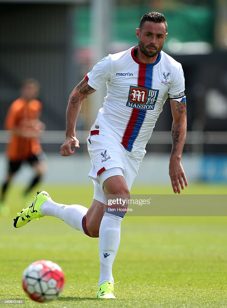 Damian Delaney of Crystal Palace in action during a Pre Season Friendly between Barnet and Crystal Palace at The Hive on July 11, 2015 in Barnet, England.
