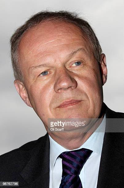 Damian Green the Conservative's Shadow Immigration Minister campaigns in Camden on April 30 2010 in London England Politicians are continuing to...