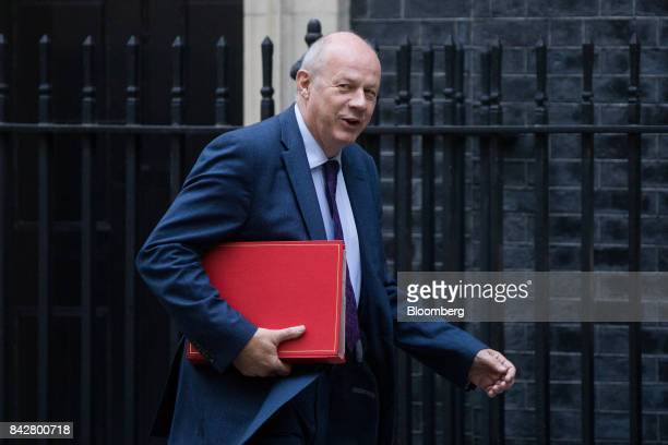 Damian Green UK first secretary of state arrives for a weekly meeting of cabinet ministers at number 10 Downing Street in London UK on Tuesday Sept 5...