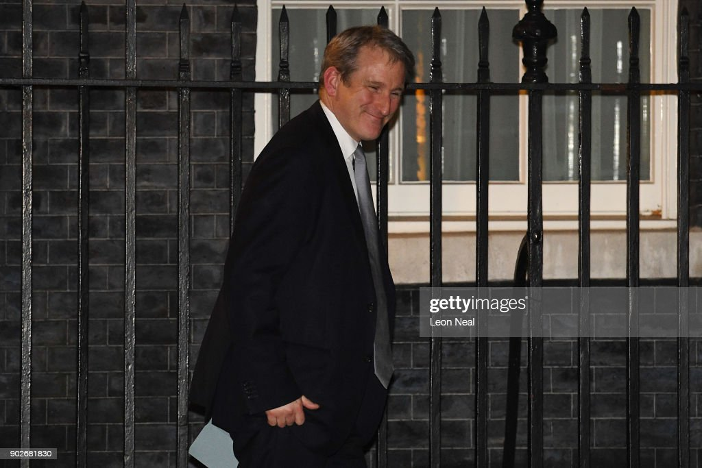 Damian Hinds leaves 10 Downing Street after being appointed as Secretary of State for Education as Prime Minister Theresa May reshuffles her cabinet on January 8, 2018 in London, England. Today's Cabinet reshuffle is Theresa May's third since becoming Prime Minister in July 2016 and was triggered after she sacked first secretary of state and close friend Damian Green before Christmas.