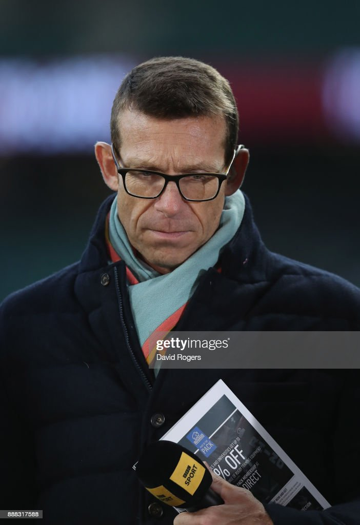 Damian Hopley, the former England international looks on during the Varsity match between Oxford University and Cambridge University at Twickenham Stadium on December 7, 2017 in London, England.