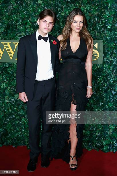 Damian Hurley and Elizabeth Hurley attend The London Evening Standard Theatre Awards at The Old Vic Theatre on November 13 2016 in London England