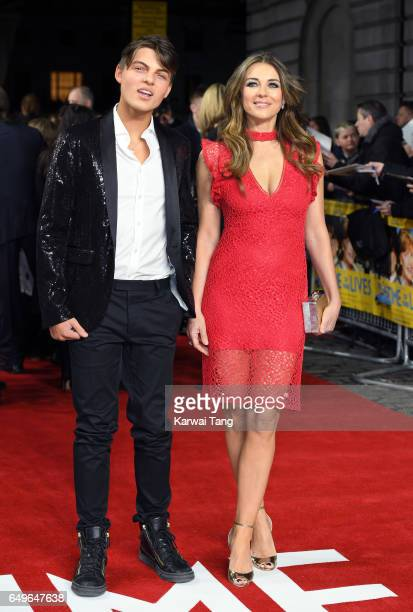 Damian Hurley and Elizabeth Hurley attend the World Premiere of 'The Time Of Their Lives' at the Curzon Mayfair on March 8 2017 in London United...