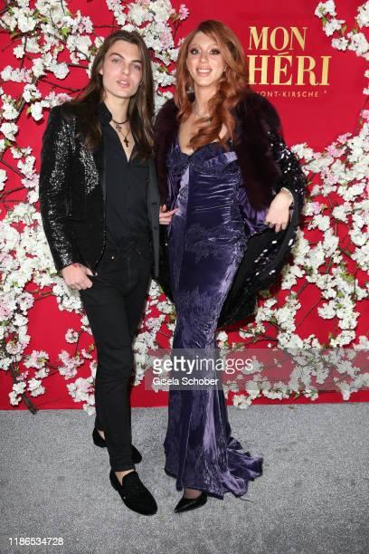 "Damian Hurley, son of Elizabeth ""Liz"" Hurley, and Anna Ermakova, daughter of Boris Becker, during the 10th Mon Cheri Barbara Tag at Isarpost on..."