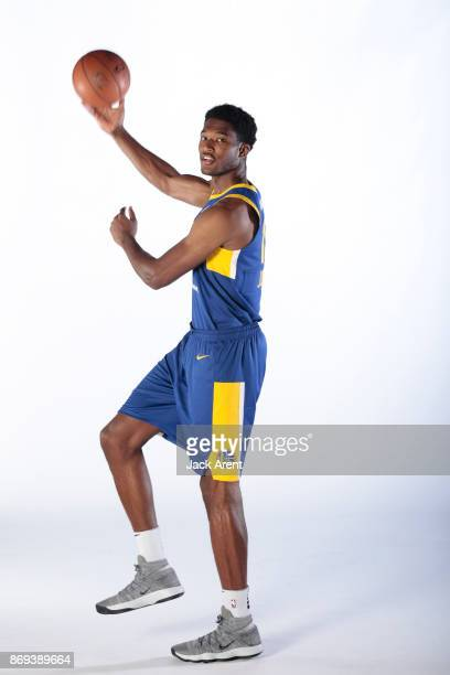 Damian Jones of the Santa Cruz Warriors poses for a portrait during the NBA GLeague media day on October 31 2017 at Kaiser Permanente Arena in Santa...