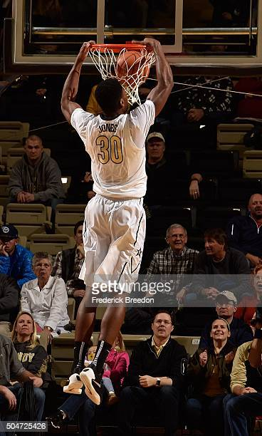 Damian Jones of the Vanderbilt Commodores dunks against the Auburn Tigers during the first half at Memorial Gym on January 12 2016 in Nashville...