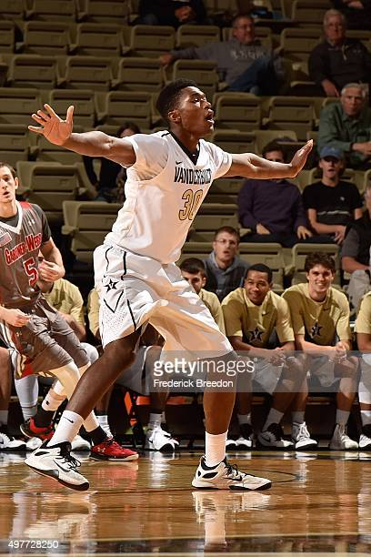 Damian Jones of the Vanderbilt Commodores plays against GardnerWebb at Memorial Gym on November 16 2015 in Nashville Tennessee