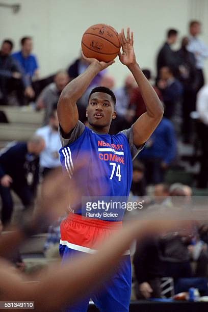 Damian Jones shoots during 2016 NBA Draft Combine on May 12 2016 at the Quest Multisport in Chicago Illinois NOTE TO USER User expressly acknowledges...