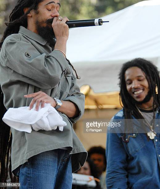 Damian 'Jr Gong' Marley and Stephen Marley during Green Apple Music Festival San Francisco Day 3 at Golden Gate Park Speedway Meadows in San...
