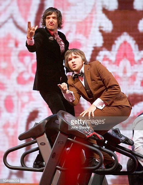 Damian Kulash and Andy Ross of OK Go perform Here It Goes Again