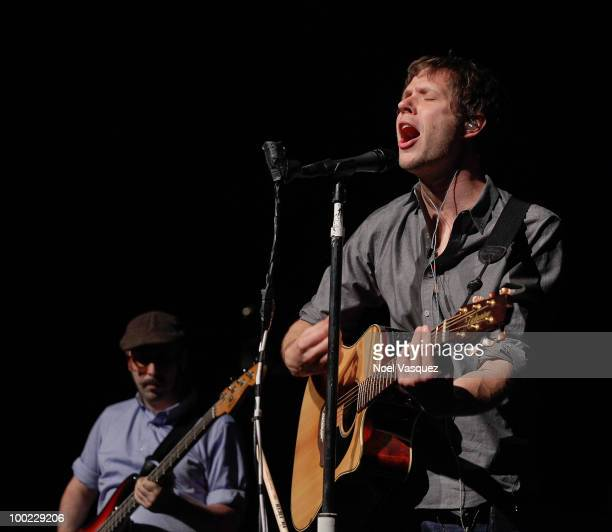 Damian Kulash and Tim Nordwind of OK GO perform at the GRAMMY Foundation GRAMMY SoundChecks program with OK Go hosted by The Recording Academy's Los...
