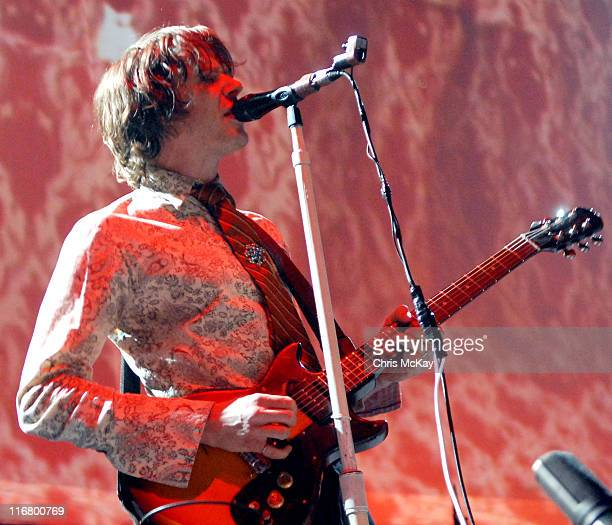 Damian Kulash of OK Go during OK Go in Concert March 21 2007 at The Arena at Gwinnett in Duluth Georgia United States