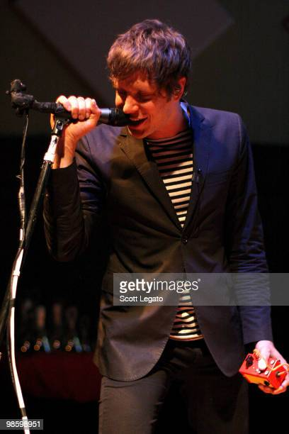 Damian Kulash of OK GO performs at Earth House Collective on April 21 2010 in Indianapolis Indiana