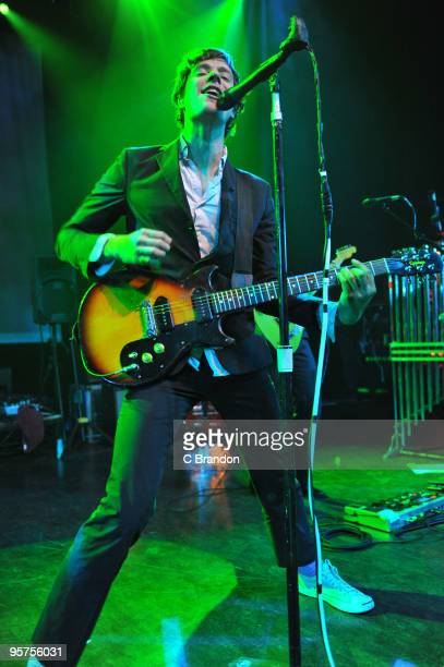 Damian Kulash of OK Go performs on stage at Shepherds Bush Empire on January 13 2010 in London England