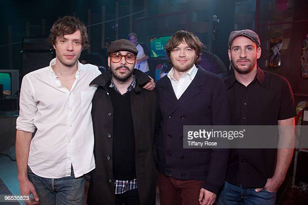 Damian Kulash Tim Nordwind Andy Ross and Dan Konopka of Ok Go perform on Fuel Tv's 'The Daily Habit' on February 9 2010 in Los Angeles California