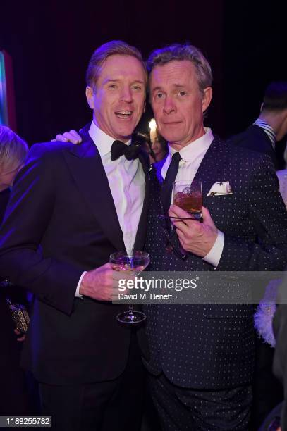 Damian Lewis and Alex Jennings attend the after party of the 65th Evening Standard Theatre Awards In Association With Michael Kors at London Coliseum...