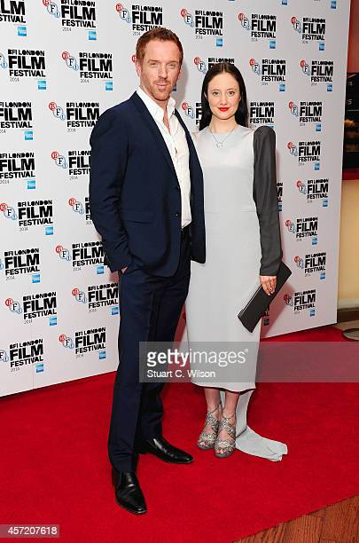 Damian Lewis and Andrea Riseborough attend the red carpet arrivals of Silent Storm during the 58th BFI London Film Festival at Vue Leicester Square...