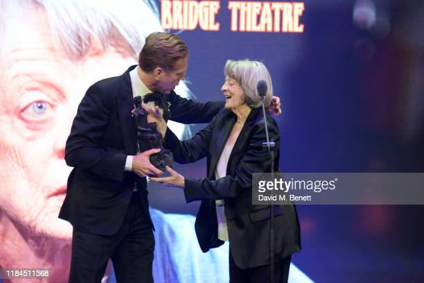 Damian Lewis and Dame Maggie Smith winner of Natasha Richardson Award for Best Actress Award in partnership with Christian Louboutin for 'A German...