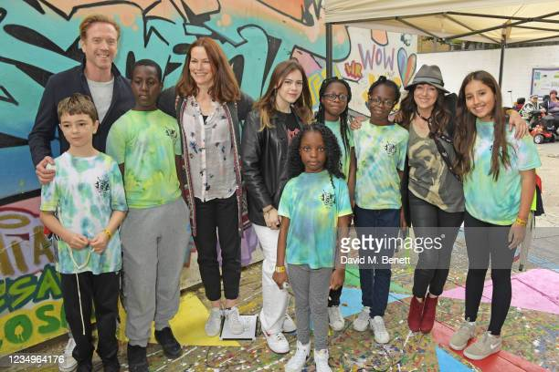 Damian Lewis and Debbi Clark pose with cast members Riley De-Gragg, Joshua Bamgbose, director Selina Giles, co-director Lily Alice Clark, Kalise...