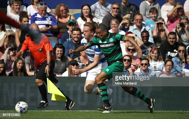 Damian Lewis and Des Walker during the #GAME4GRENFELL at Loftus Road on September 2, 2017 in London, England. The charity football match has been set...