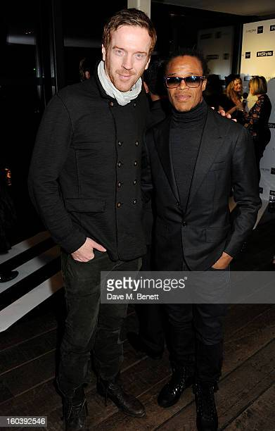 Damian Lewis and Edgar Davids attend the InStyle Best Of British Talent party in association with Lancome and Avenue 32 at Shoreditch House on...