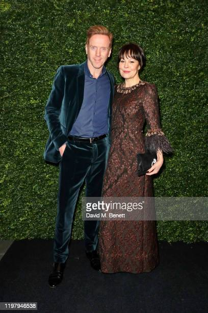 Damian Lewis and Helen McCrory arrive at the Charles Finch CHANEL PreBAFTA Party at 5 Hertford Street on February 1 2020 in London England