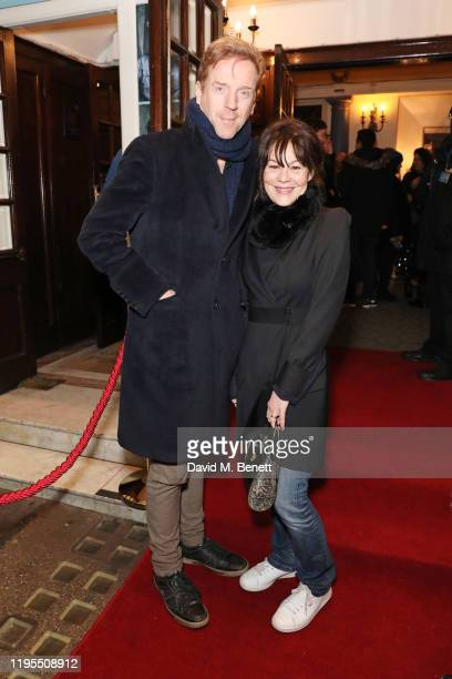 "Damian Lewis and Helen McCrory arrive at the press night performance of ""Uncle Vanya"" at The Harold Pinter Theatre on January 23, 2020 in London,..."