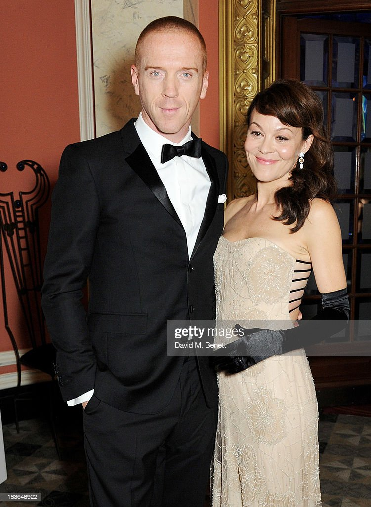 Damian Lewis (L) and Helen McCrory attend a BFI Luminous Gala ahead of the London Film Festival at 8 Northumberland Avenue on October 8, 2013 in London, England.