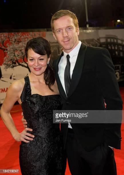 Damian Lewis and Helen McCrory attend a Royal film performance of Hugo in 3D at The Odeon Leicester Square on November 28, 2011 in London, United...