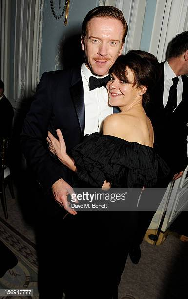 Damian Lewis and Helen McCrory attend an after party following the 58th London Evening Standard Theatre Awards in association with Burberry at The...