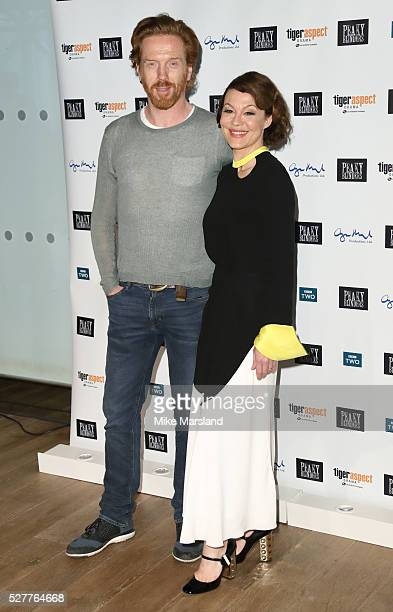 """Damian Lewis and Helen McCrory attend BBC Two's drama """"Peaky Blinders"""" UK premiere screening of episode one, series three at BFI Southbank on May 3,..."""