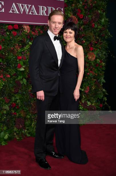 Damian Lewis and Helen McCrory attend the 65th Evening Standard Theatre Awards at London Coliseum on November 24, 2019 in London, England.