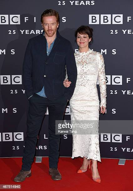 Damian Lewis and Helen McCrory attend the BBC Films' 25th Anniversary Reception at BBC Broadcasting House on March 25 2015 in London England