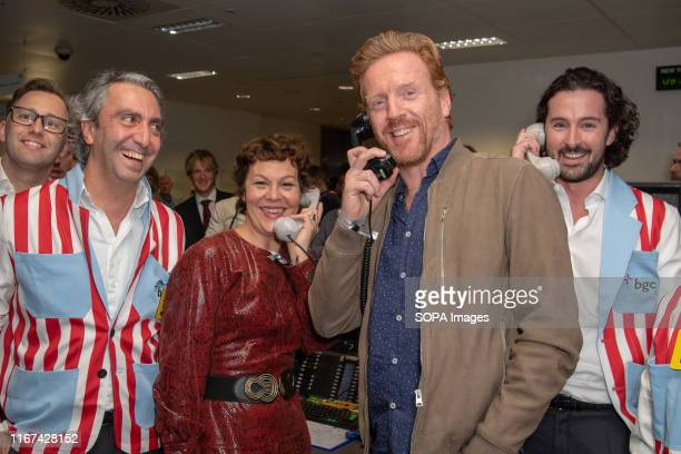 Damian Lewis and Helen McCrory attend the BGC Charity Day 2019 at Canary Wharf in London